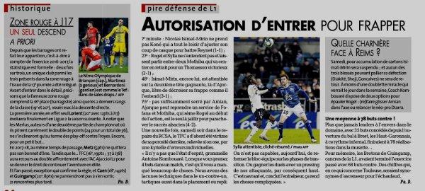 2019 Ligue 1 J18 : PLUS RIEN N'EST ROSE à TOULOUSE , le 10/12/2019