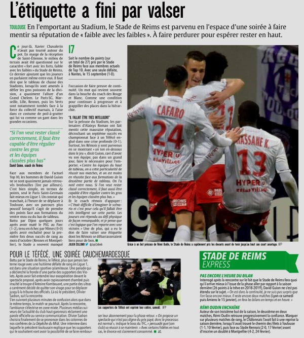 2019 Ligue 1 J18 TOULOUSE REIMS 1-0, les + du blog,  le 16/12/2019