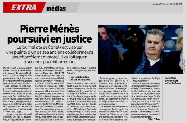 2019 Médias : LE NÉPOTISME , le NOUVEAU EX ..... CANAL, le  27/12/2019