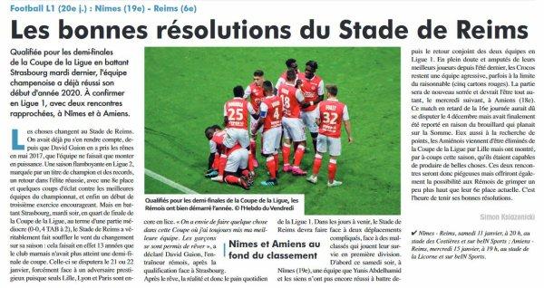 2019 Ligue 1 J20 NÎMES REIMS , l'avant match, le 11/01/2020