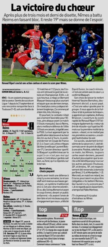 2019 Ligue 1 J20 NÎMES REIMS 2-0,  le 11/01/2020