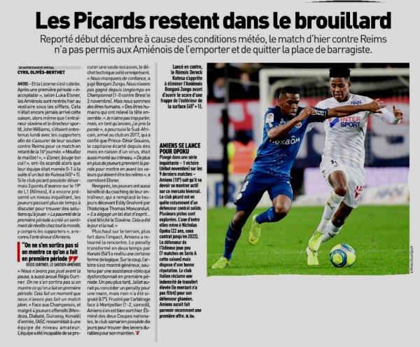 2019 Ligue 1 J16 ( après J20) AMIENS REIMS 1-1 , le 15/01/2020