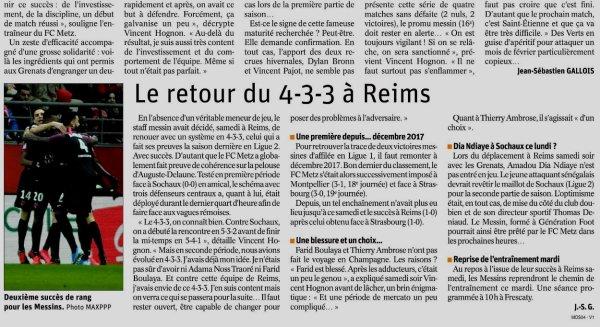 2019 Ligue 1 J21 REIMS METZ 0-1, les + du blog, le  29/01/2020