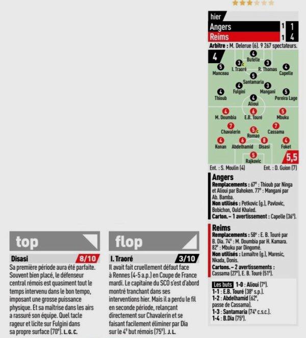 2019 Ligue 1 J22 ANGERS REIMS 1-4, le 01/02/2020
