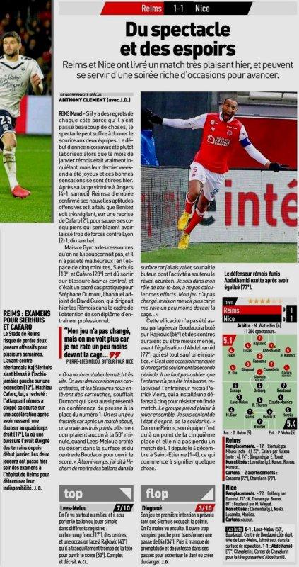 2019 Ligue 1 J23 REIMS NICE 1-1,le 05/02/2020