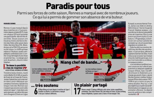 2019 Ligue 1 J25 REIMS RENNES , l'avant match, le 16/02/2020