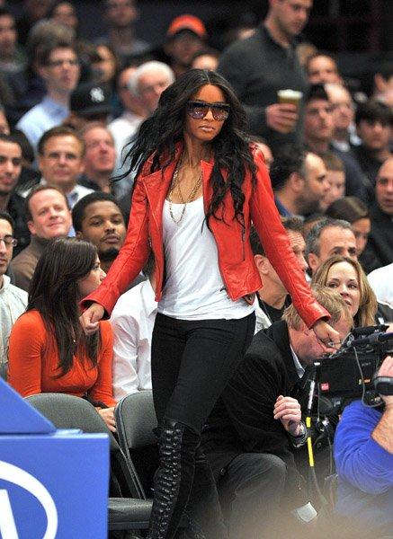 Ciara au Knicks Game avec Chris Brown & Fabolous