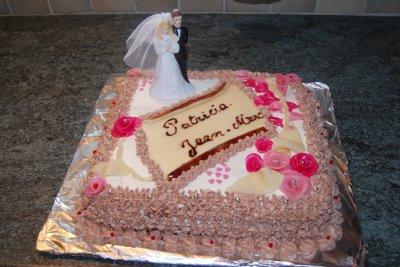 gateau anniversaire de mariage 1 an