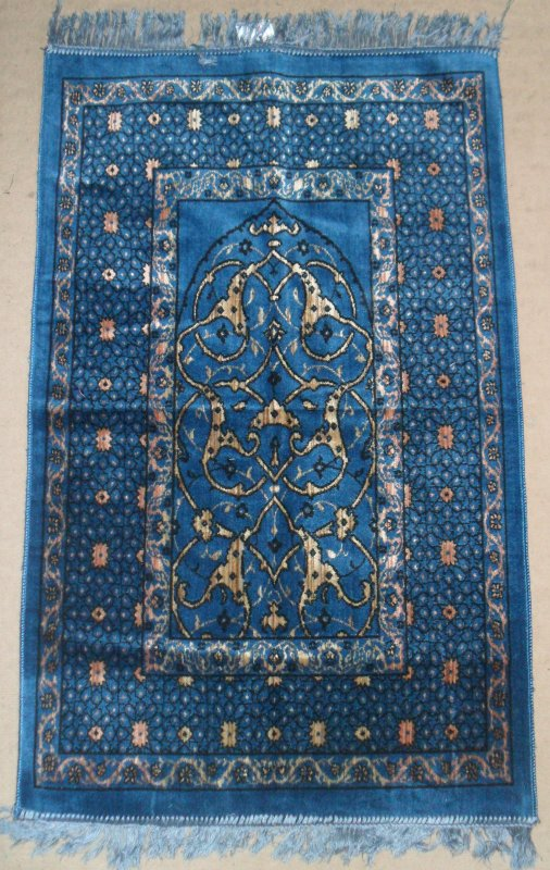 tapis de priere velour divers colories prix 3¤50