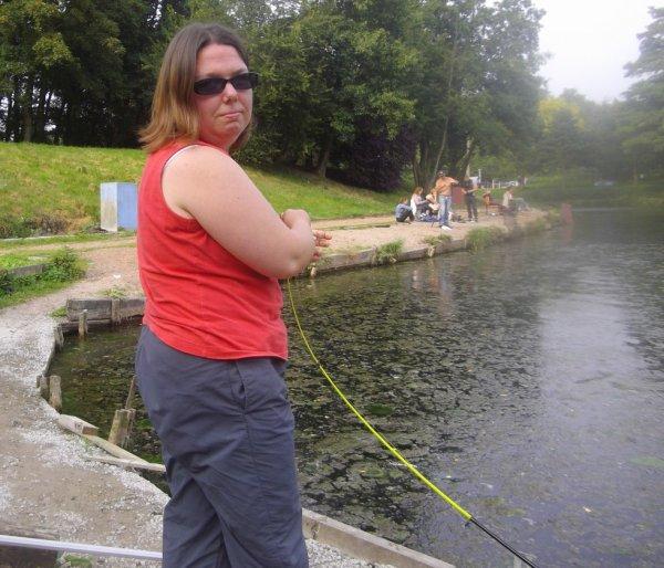 en mode pêche