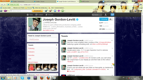 Joseph Gordon-Levitt m'a retweeté le 9 février ♥
