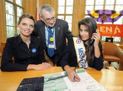 Miss France répond aux appels du centre de Caen