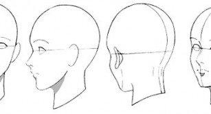 dessin manga visage profil