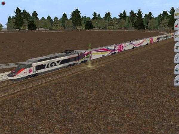 TGV anniversaire sur Trainz !