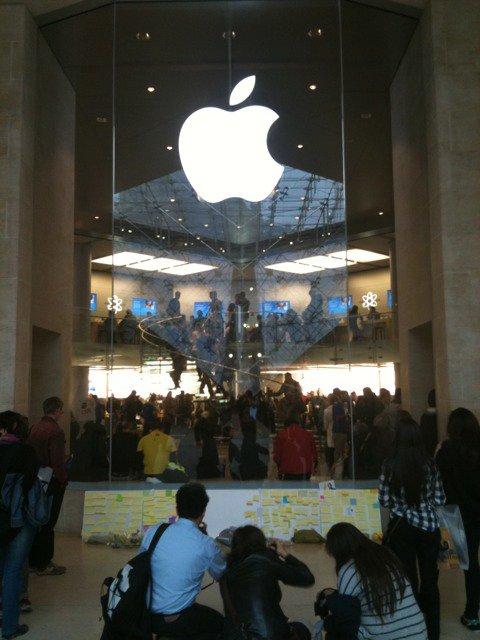 Paris Apple Store Louvre