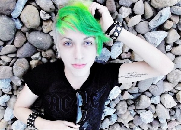 Vert et blond :)