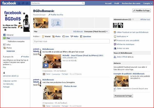 nouvelles page facebook