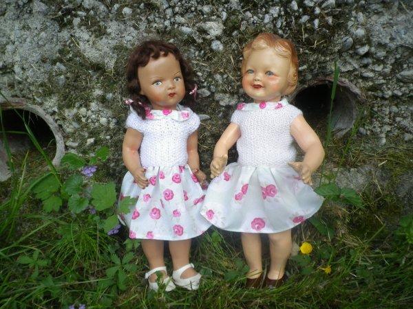Nouvelles robes pour Lisette et Solange
