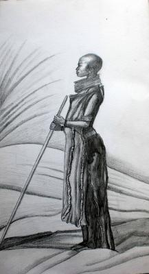 Dessin femme africaine crayon a papier drawing - Dessin africaine ...