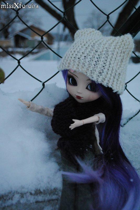 Séance dans la neige et converse