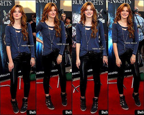 21/9/12: Bella et sa belle cheuvelure étaient L'avant premiere de Kicks off Hallowe'en Horror Nights au Universal studios a Hollywood   Coté tenue elle était trés tendance j'adore ses shoes et son pants vos avis ?