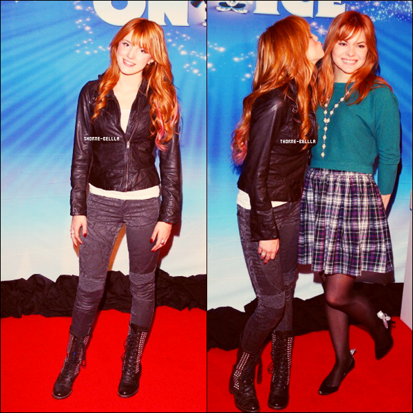 13/12/2012 : Bella était avec Kaili à la soirée d'ouverture du Disney On Ice's « Dare To Dream » Top/Flop?