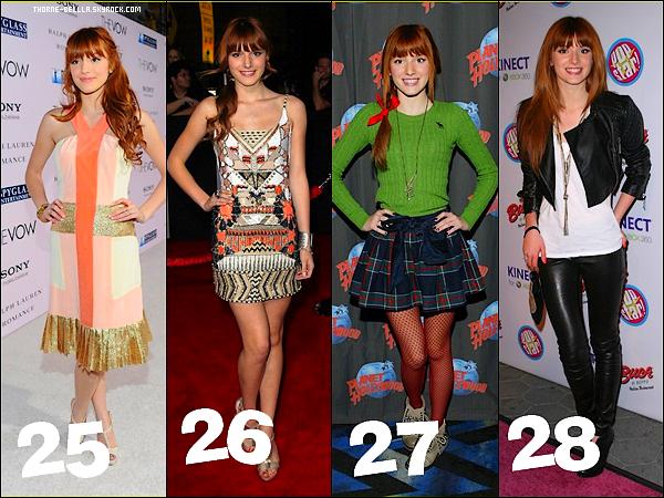 Bella a fait plusieurs Tapis rouges cette année mais c'est quoi votre plus grand Top/Flop ?  .