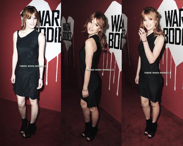 .  30 Janvier 2013 :  Bella était présente a l'avant premiére de 'Warm Bodies'  Los Angeles  Top/Flop ? ..