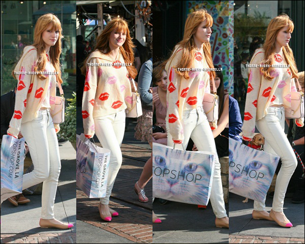 .  17 Février 2013 :  Bella  profitant du soleil appérçue avec Kailli faissant du shopping dans  Los Angeles ..