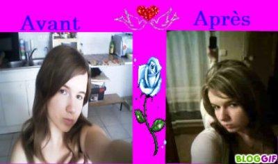 Moi avec ma en sienne coiffure et Ma Nouvelle Coiffure que j'ai fait pour mes 19 ans