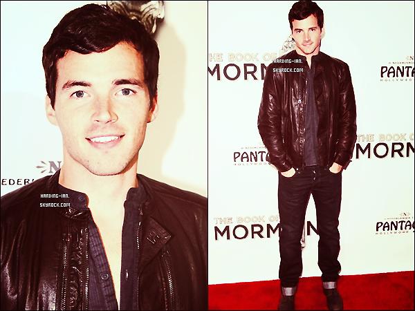 """. Le 12/09/2012 ▬ Ian était à la première de  """"The Book of Mormon"""" au théâtre à Los Angeles.  ."""