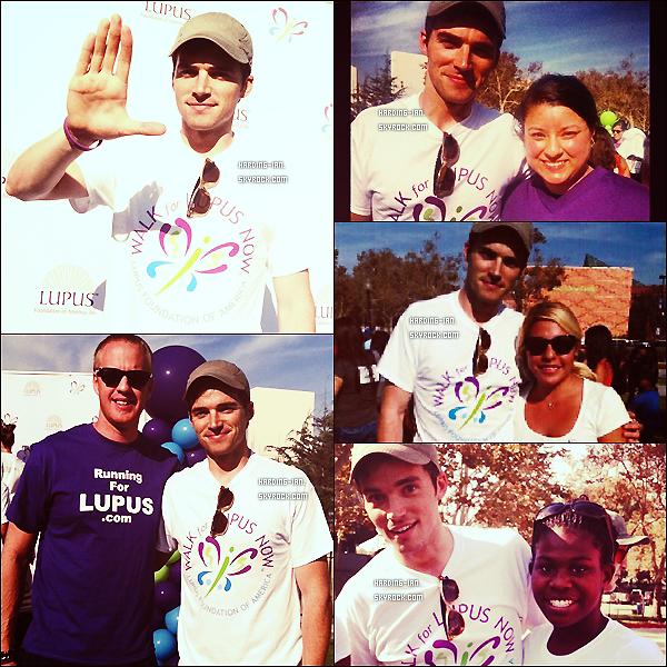 . Le 29/09/2012 ▬ Ian était présent à la marche pour le lupus. Il ont récoltés à peu près 11millions. de dollars. Qu'il est généreux! .
