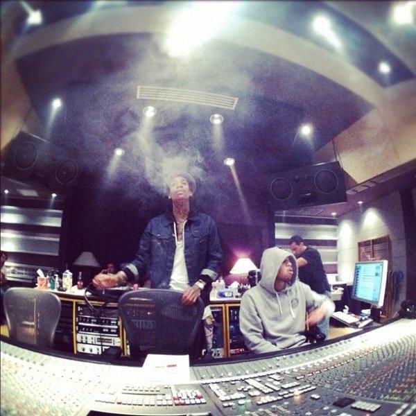 ***En studio avec Wiz Khalifa***