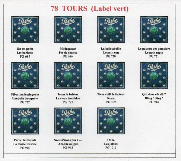 Les 78 Tours (Label vert)