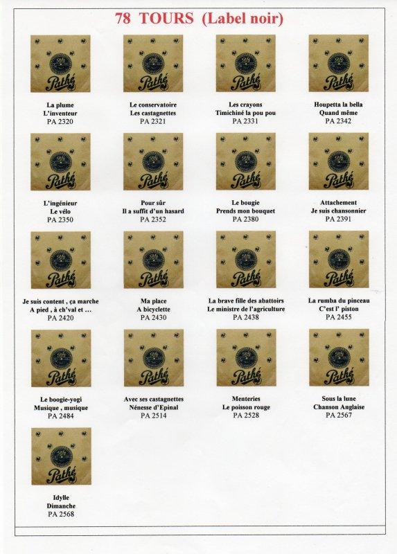 Les 78 Tours (Label noir)