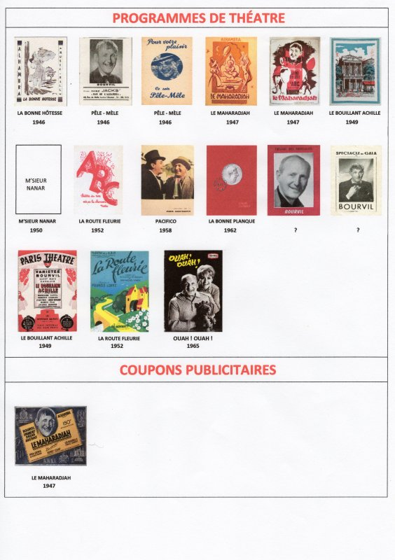 Les Affiches et Programmes d'Opérettes -Théatres