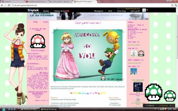 Mon blog spécial jeux vidéos !