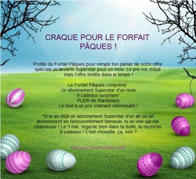Forfait Pâques !
