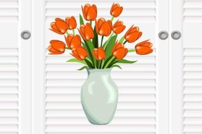 Pot de fleurs.