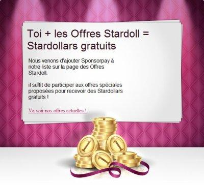 Nouveaux moyens de gagner des Stardollards.