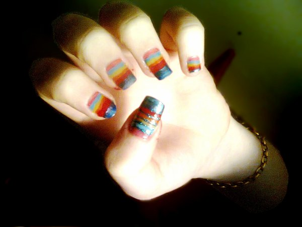 Nail art coloré !