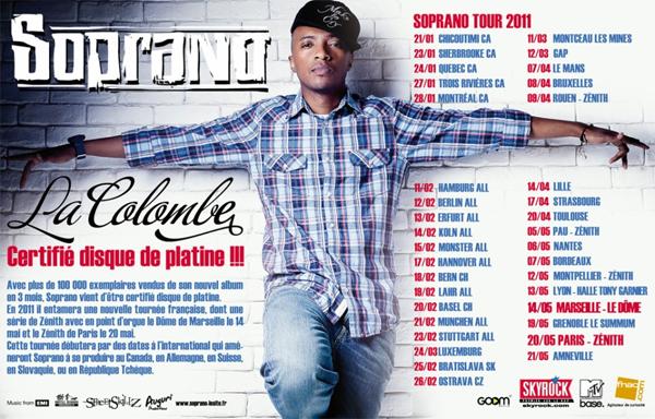 SOPRANO DISQUE DE PLATINE + TOUR 2011