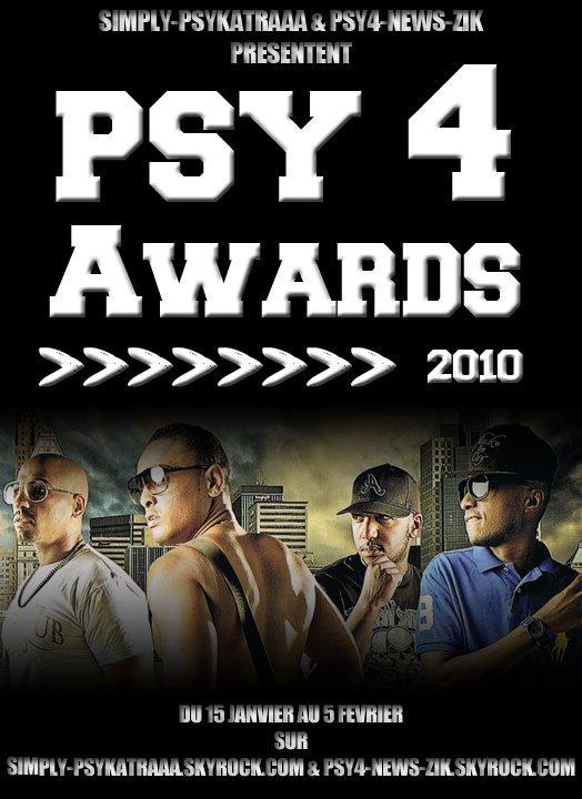 LES CATÉGORIES / PSY 4 AWARDS 2010