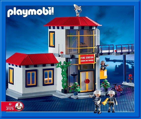 27 caserne pompier materiel 3175 caserne des pompiers photo archive article playmobil. Black Bedroom Furniture Sets. Home Design Ideas