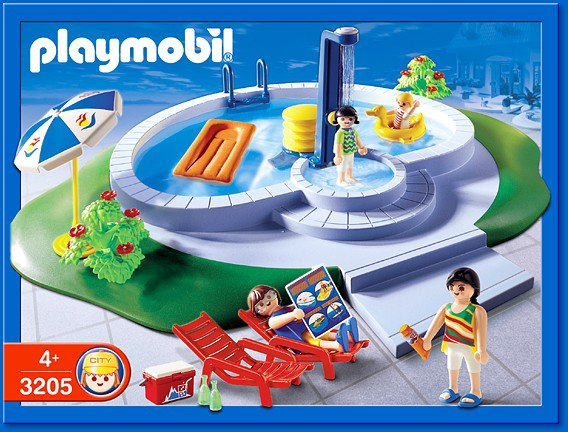 9b maison moderne exterieur 3205 famille piscine photo for Piscine de playmobil