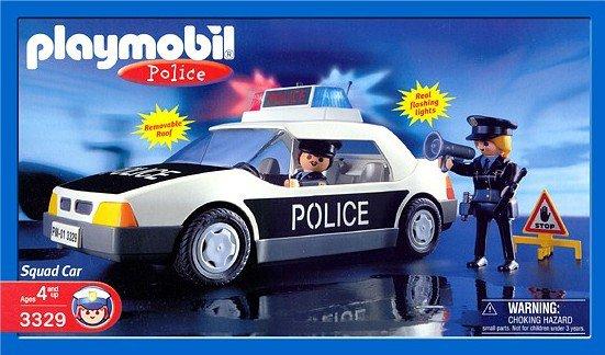 24e policiers international 3329 voiture de police us - Playmobile policier ...