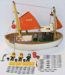 bateau de peche playmobil 3551