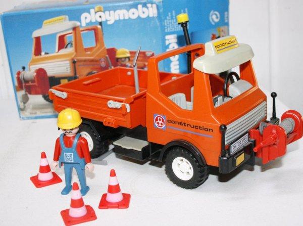 18c service travaux public 3755 camion de chantier photo archive article playmobil. Black Bedroom Furniture Sets. Home Design Ideas