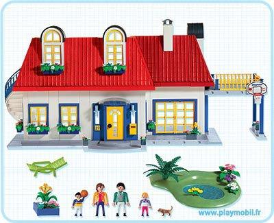 9 maison moderne 3965 maison moderne 7336 7337 7338 for Playmobil modern house 7337