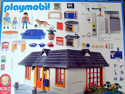 9 maison moderne 4062 maison avec clairage int rieur photo archive article playmobil. Black Bedroom Furniture Sets. Home Design Ideas